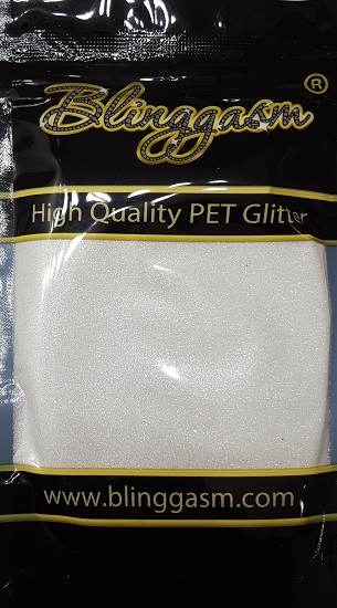 Metallic Solvent Resistant Blinggasm Polyester Glitter 3.5 oz By Weight .008 Or .015 Choose Size From Menu #2 B0100A SNOW